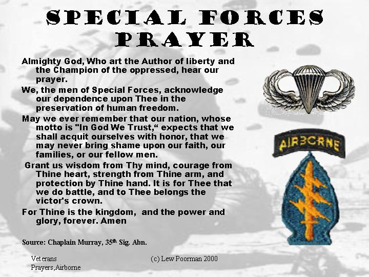 Airborne Prayers, Paratroopers, Gliderman and Air Assault